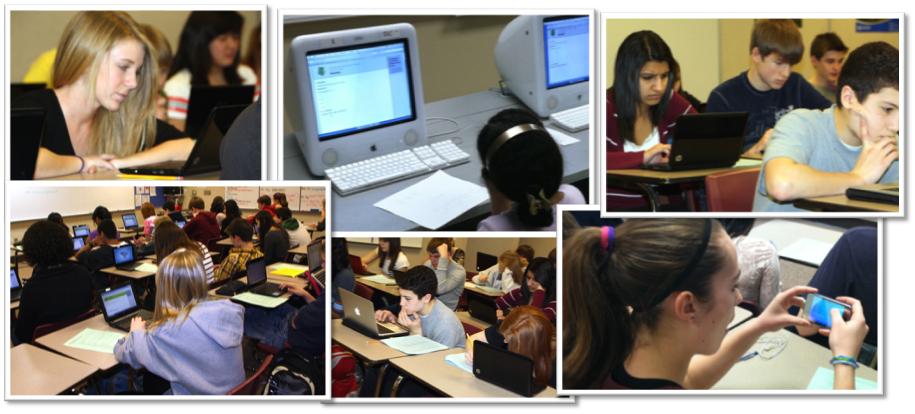 Students using Naiku for Testing
