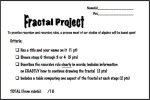 Fractal Rubric